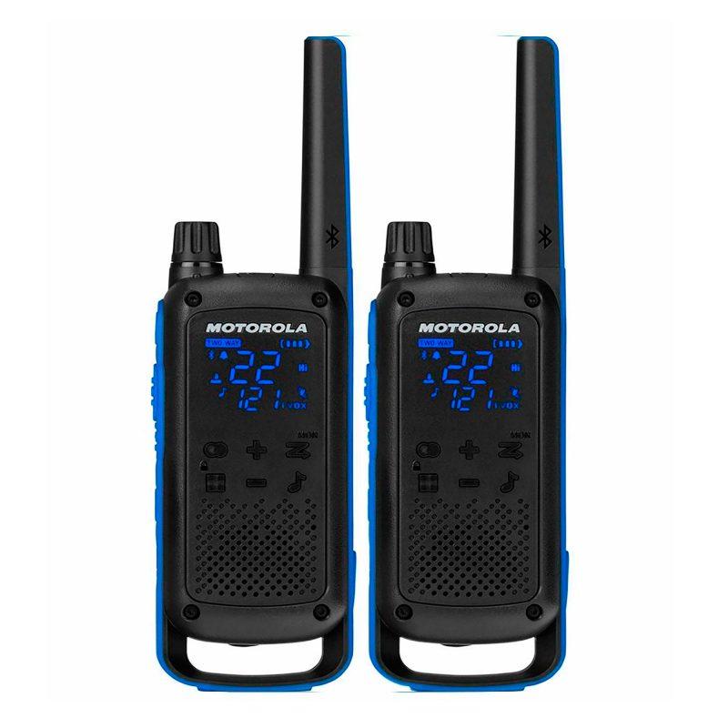 Handy Walkie Talkie Motorola TalkAbout T800 2 Vías 22 Canales 56 Km Bluetooth con Linterna Bateria y Resistente al Agua 1