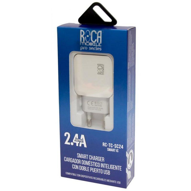 Cargador Inteligente Standard ROCA 2.4A + Cable Lightning 1