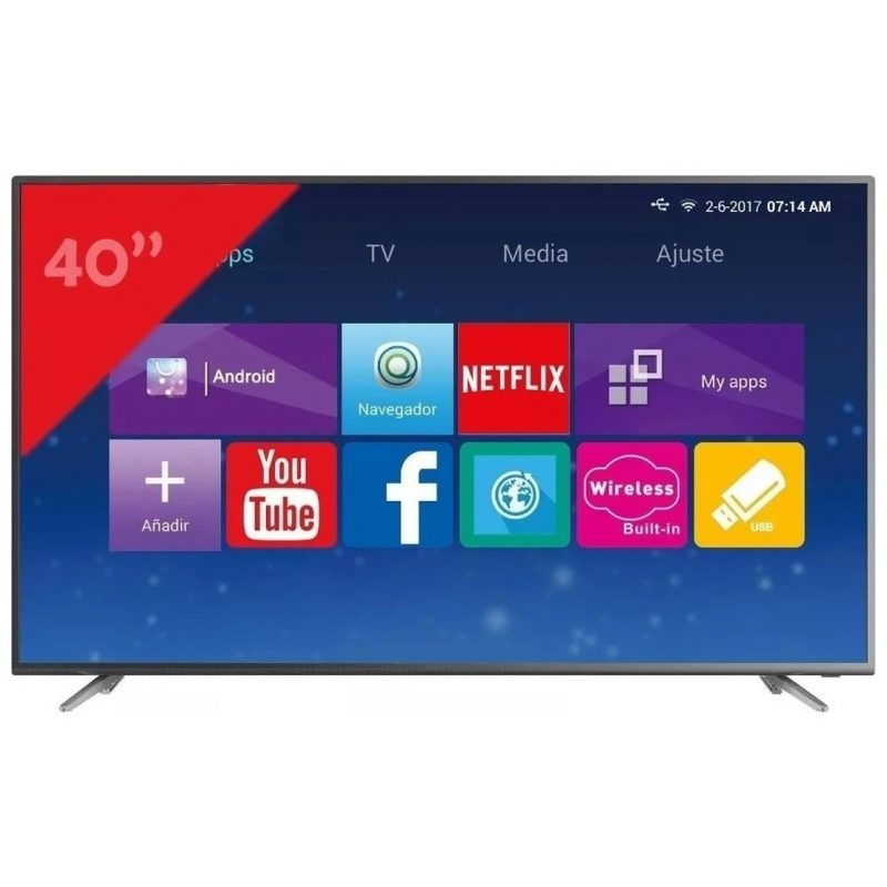 Smart TV LED Punktal PK-40TE 40'' Full HD Quad Core WiFi 3