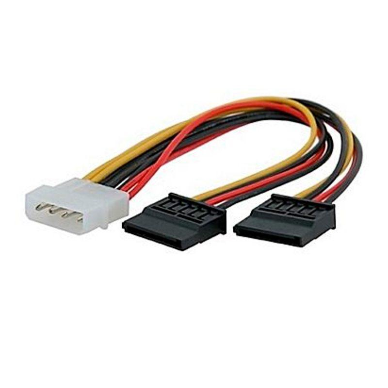Cable de Poder Corriente de Molex a 2 SATA Tipo 'Y' 1