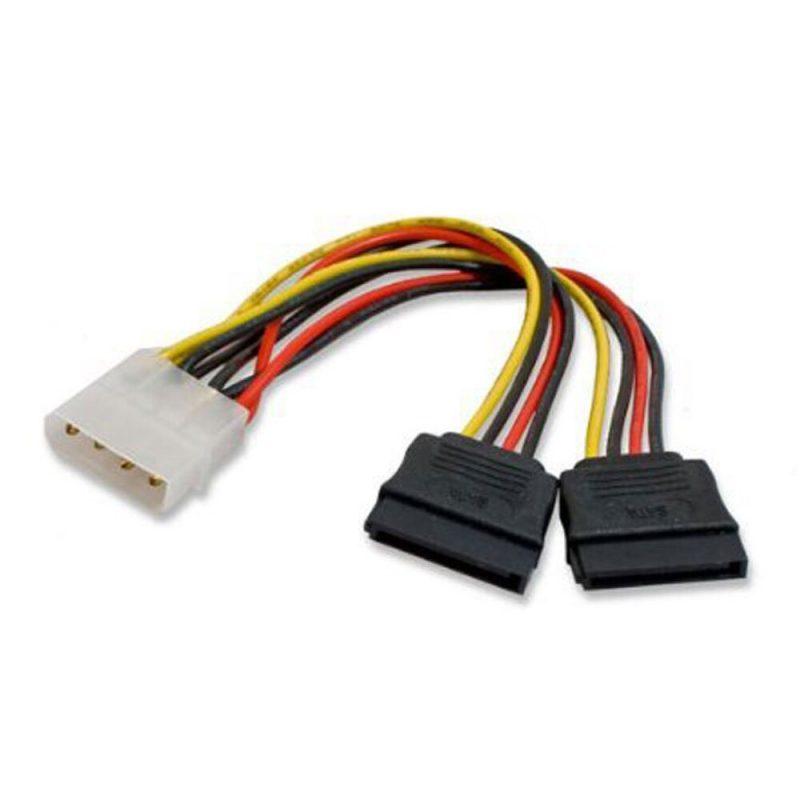 Cable de Poder Corriente de Molex a 2 SATA Tipo 'Y' 2