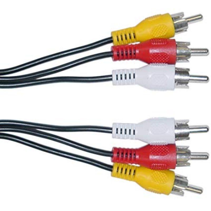 Cable de Audio Video 3X3 RCA M/M 1;8M Estereo 3