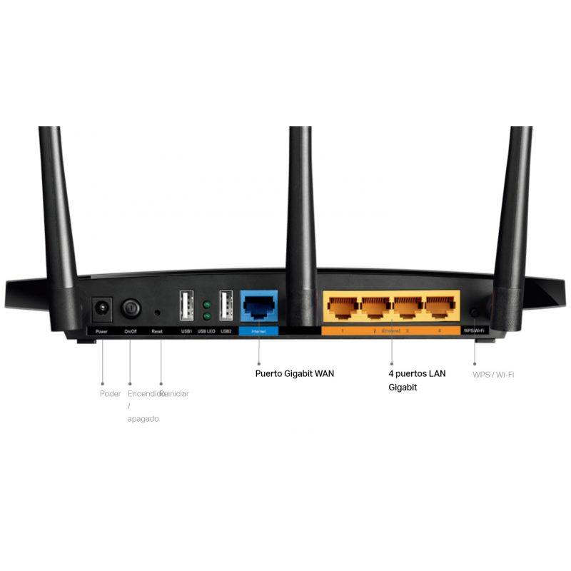 Router TP-Link Wireless Gigabit ARCHER C7 AC1750 Doble Banda WiFi 1300Mbps 3 Antenas 4