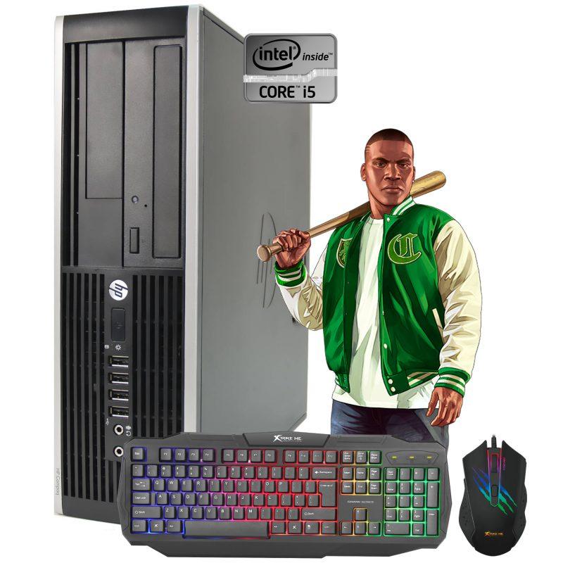 PC Computadora Gamer HP Core i5 8gb 250GB Tarjeta de Video Nvidia GeForce GT710 2GB + Combo Gaming 1