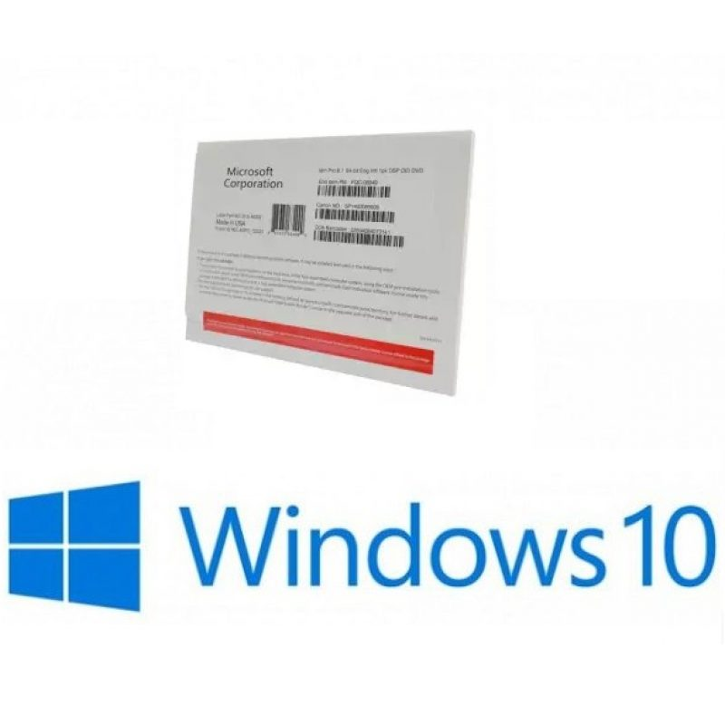 Licencia Microsoft Windows 10 Pro 64 Bits OEM Español DVD 3