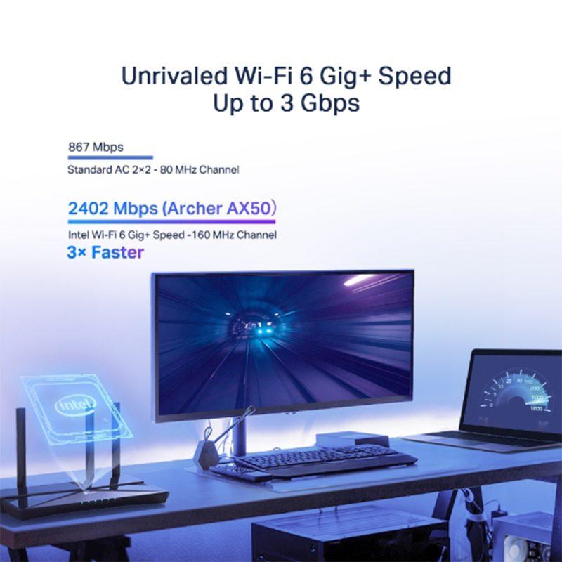 Router TP-Link WiFi 6 AX50 Gigabit Nueva Version WiFi 6 Doble Banda 4