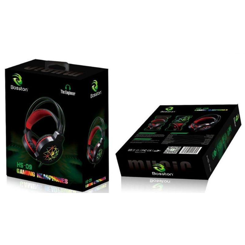 Auricular Vincha Gamer con Micrófono Bosston HS-09 Grandes y Comodos 4