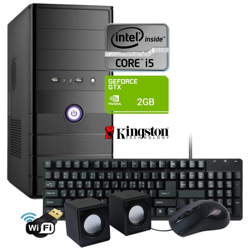 Pc Computadora Gamer Nueva INTEL Core i5 8GB SSD 120GB + HDD 1TB + Video GeForce GTX 1050 2GB DDR5 + WiFi 1