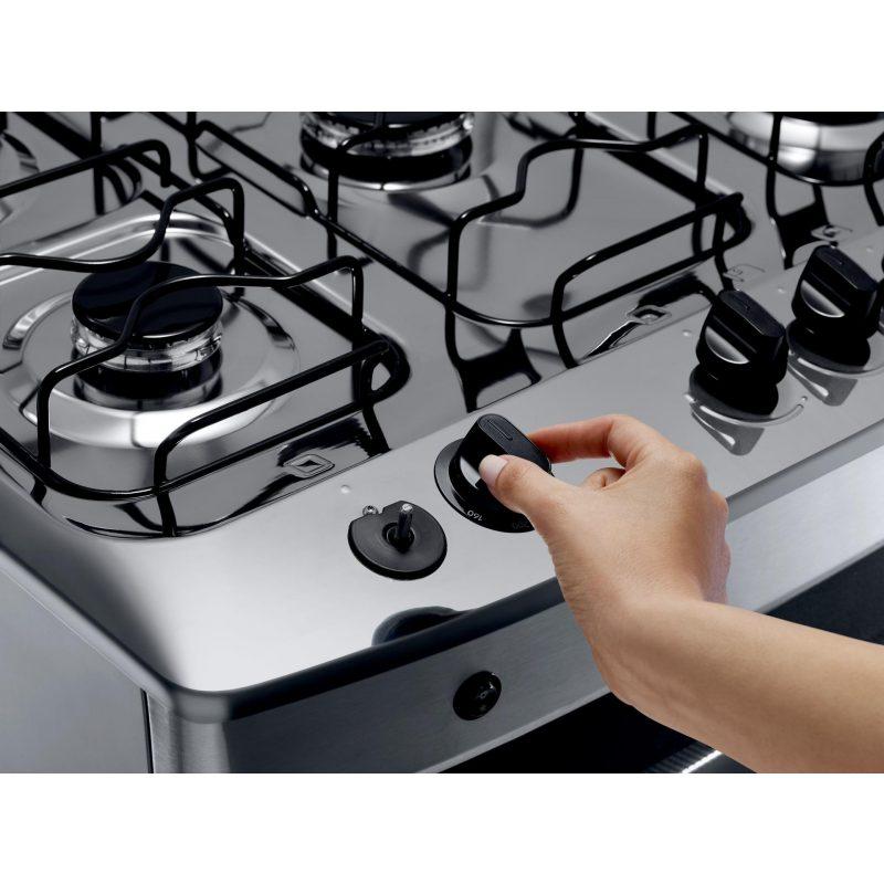 Cocina a Gas Consul CFS5NAR 5 Hornallas Acero Inoxidable Doble Vidrio 4