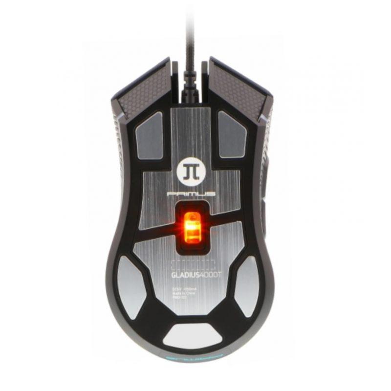Mouse Gamer Primus Gladius 4000T PMO-101 6 Botones Base Metálica RGB 2