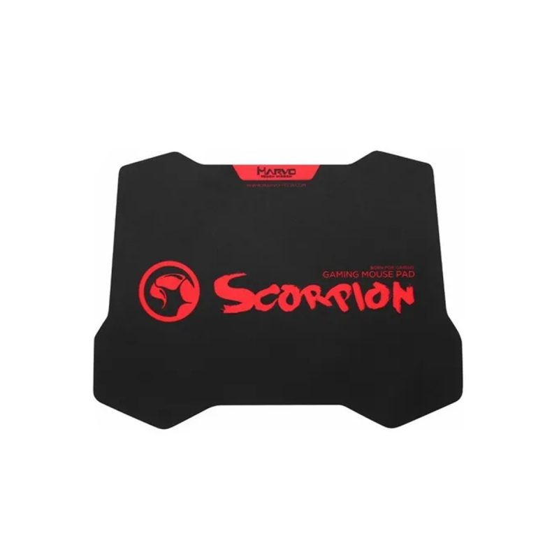 Mouse Pad Gamer Marvo Scorpion G38 Textura Alta Densidad Negro/Rojo 1