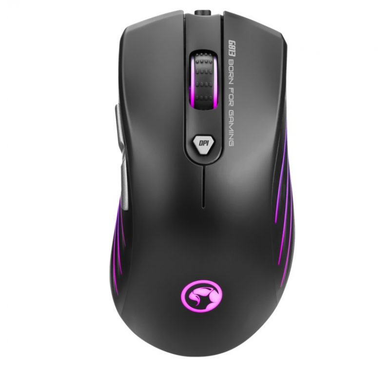 Mouse Gamer Marvo Scorpion G813 RGB Retroiluminado 7200dpi 7 Botones Programables 1