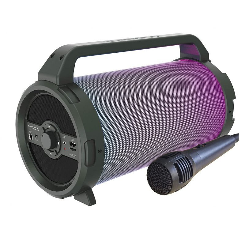 Parlante Portatil Avenzo AV-SP3301B Bazooka 18W Bluetooth USB microSD Luces LED y Micrófono incorporado 1