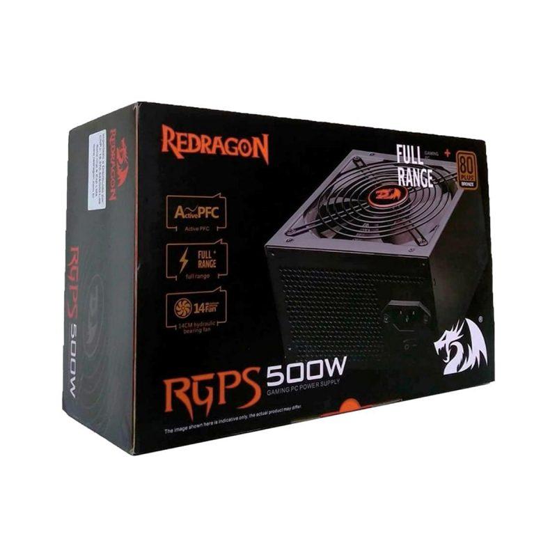 Fuente Redragon RPGS GC-PS001 GC 500W Reales 80 Plus Fan 14cm Silencioso 4