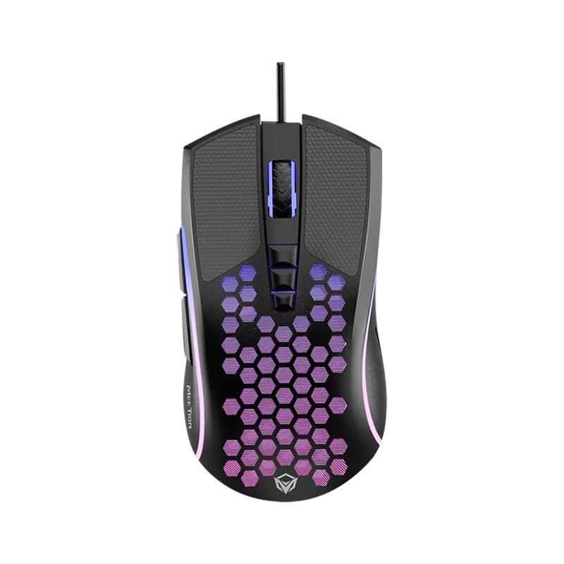 Mouse Retroiluminado Diseño Panal Gamer Meetion GM015 RGB Ergonómico PC PS4 1