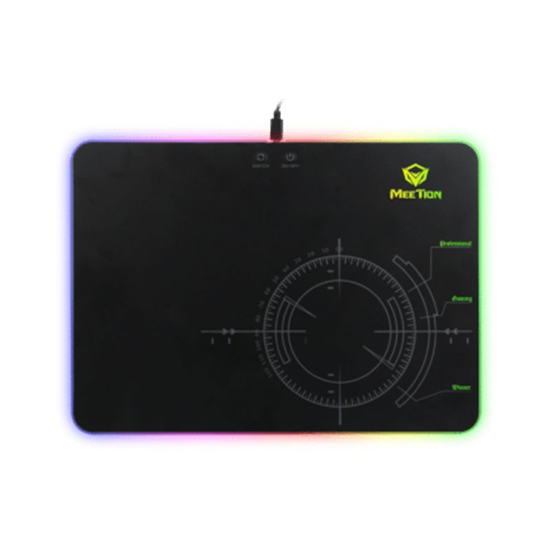 Mouse Pad Gamer Meetion MT-P010 Gaming Con Luces RGB Alta Calidad 3