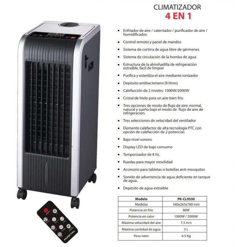 Climatizador Punktal PK-CL9550 4 en 1 Aire Frio / Caliente 4