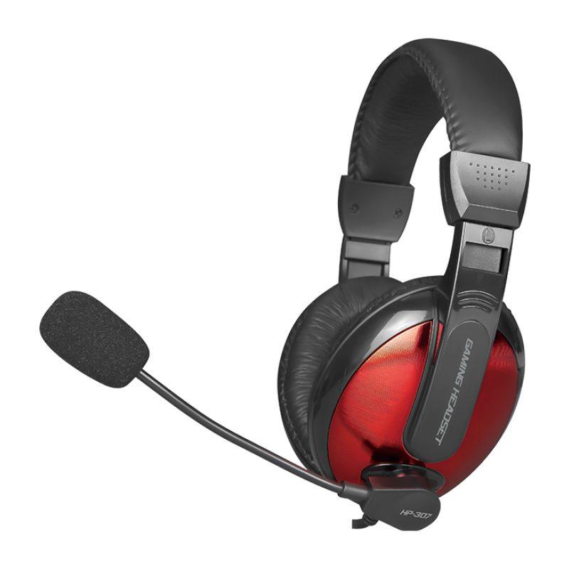 Auricular Headset Gamer Xtrike Me HP-307 con Microfono y Control en cable Rojo/Negro 1