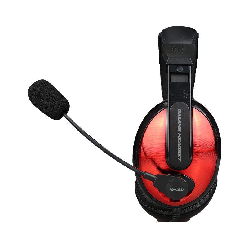 Auricular Headset Gamer Xtrike Me HP-307 con Microfono y Control en cable Rojo/Negro 2