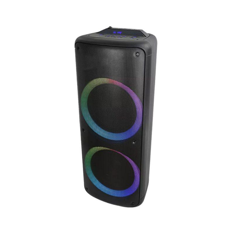 Parlante Portatil Para Fiestas DENVER BPS-455NR Bluetooth USB microSD Luces LED Woofers de 10' 1