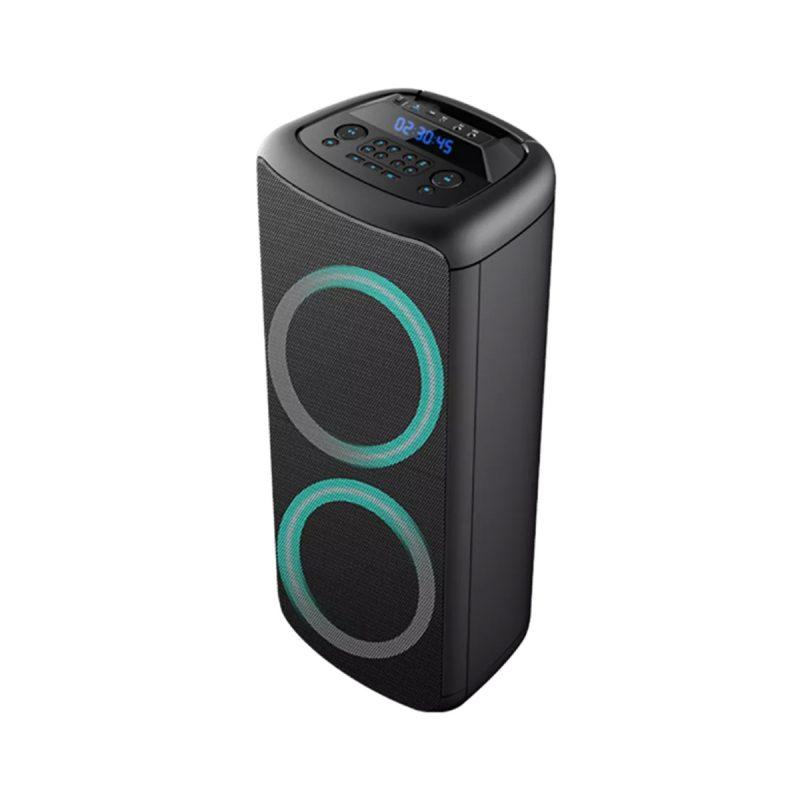 Parlante Portatil Para Fiestas DENVER BPS-455NR Bluetooth USB microSD Luces LED Woofers de 10' 2