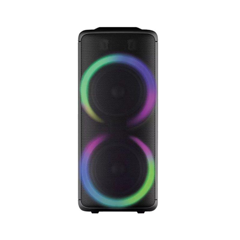 Parlante Portatil Para Fiestas DENVER BPS-455NR Bluetooth USB microSD Luces LED Woofers de 10' 3