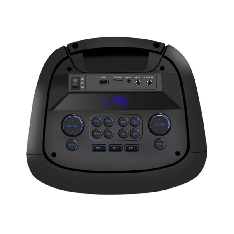 Parlante Portatil Para Fiestas DENVER BPS-455NR Bluetooth USB microSD Luces LED Woofers de 10' 4