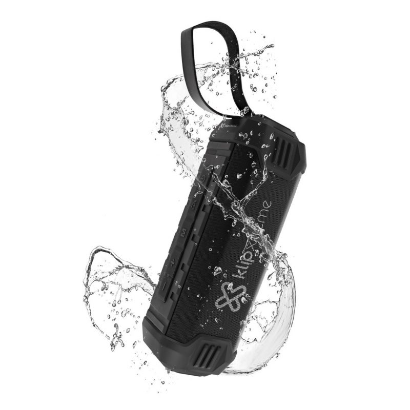 Parlante Portatil Klip-Xtreme KBS-750 Bluetooth Manos Libres Auxiliar Bateria Larga Duracion y Power Bank - IPX4 Resiste al agua 1