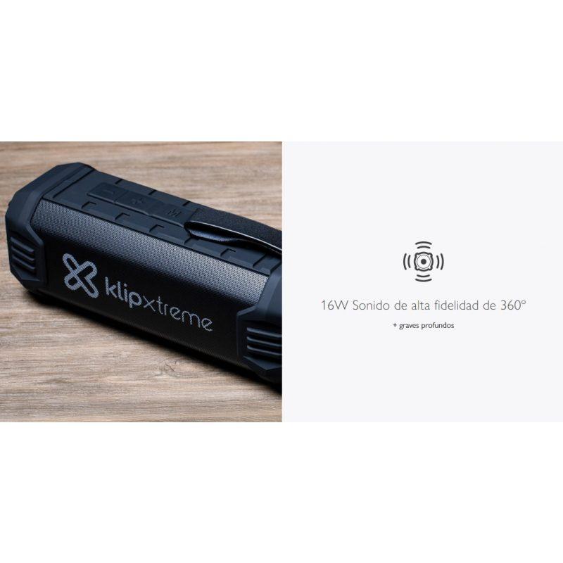 Parlante Portatil Klip-Xtreme KBS-750 Bluetooth Manos Libres Auxiliar Bateria Larga Duracion y Power Bank - IPX4 Resiste al agua 4