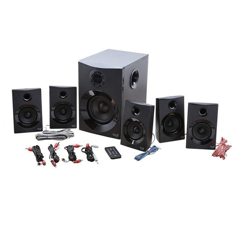 Parlantes Home 5.1 Logitech Surround Z607 con Buetooth USB SD Sonido Envolvente 3
