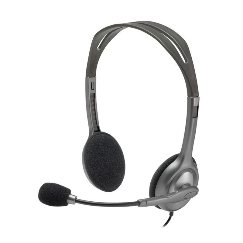Auricular Logitech H111 Stereo Headset con Micrófono conector 3.5mm único 1