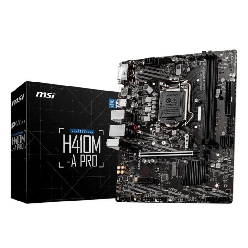 Motherboard MSI H410M-A PRO (LGA 1200) 10ma Generación Intel DDR4 1