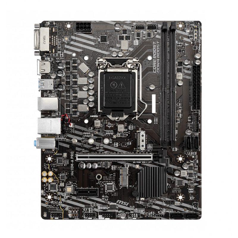Motherboard MSI H410M-A PRO (LGA 1200) 10ma Generación Intel DDR4 4