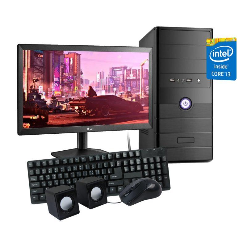 Pc Computadora Completa Nueva INTEL Core i3 8GB 500GB + Perifericos + Monitor Nuevo LED LG 20'' + WiFi 1