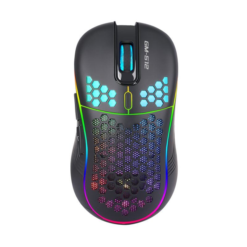Mouse Gamer Xtrike Me GM-512 Tipo Panal RGB 7 Botones 6400dpi 1