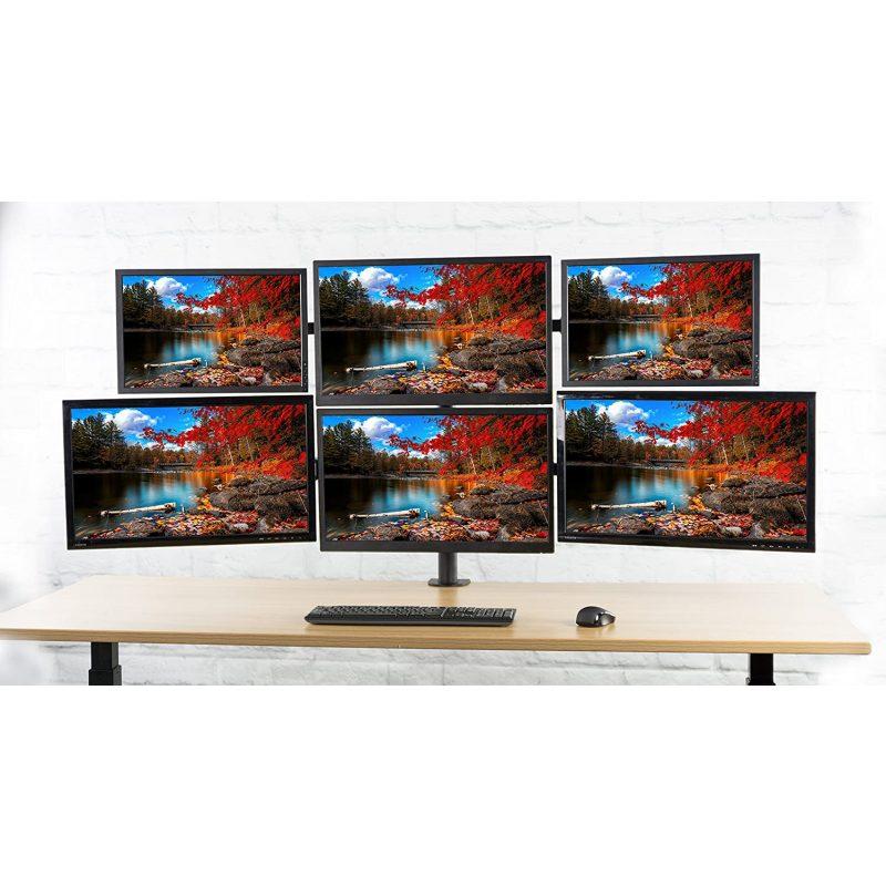 Soporte VIVO STAND-V006 Profesional para 6 Monitores de 17'' a 24'' 4