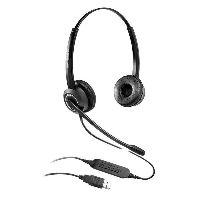 Audifonos Grandstream GUV3000 Audio HD USB con Micrófono y Cancelación de Ruido 1