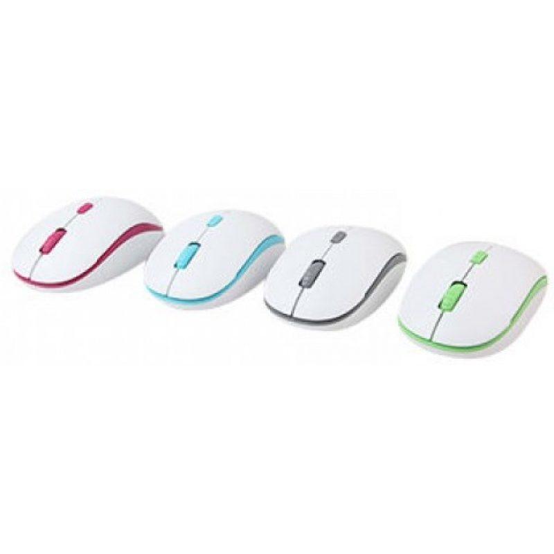 Mouse Optico Inalambrico Meetion MT-R547 Blanco y Verde 3