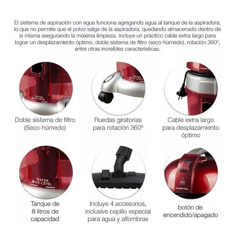 Aspiradora Profesional Punktal PK-8002 Filtro de Agua y Hepa 2