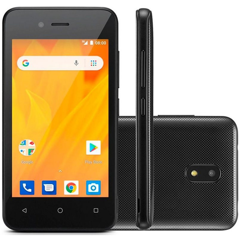 Celular Multilaser MS40G 4'' Android Quad Core Doble Cámara 5mp/2mp 8GB - Negro 1