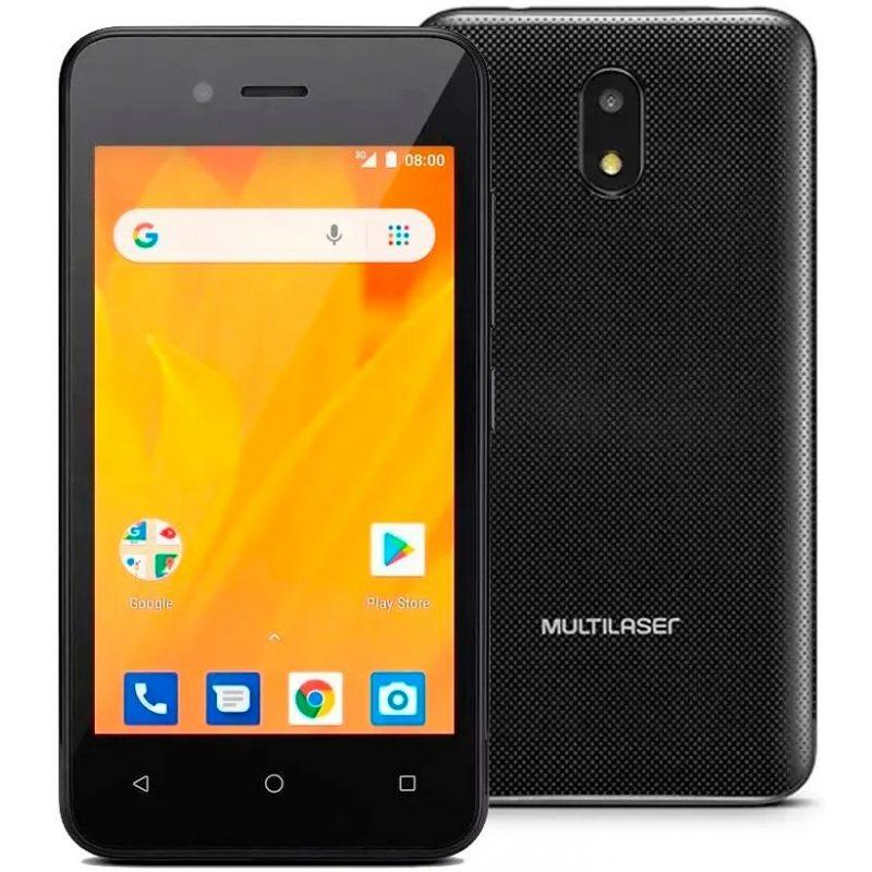 Celular Multilaser MS40G 4'' Android Quad Core Doble Cámara 5mp/2mp 8GB - Negro 2