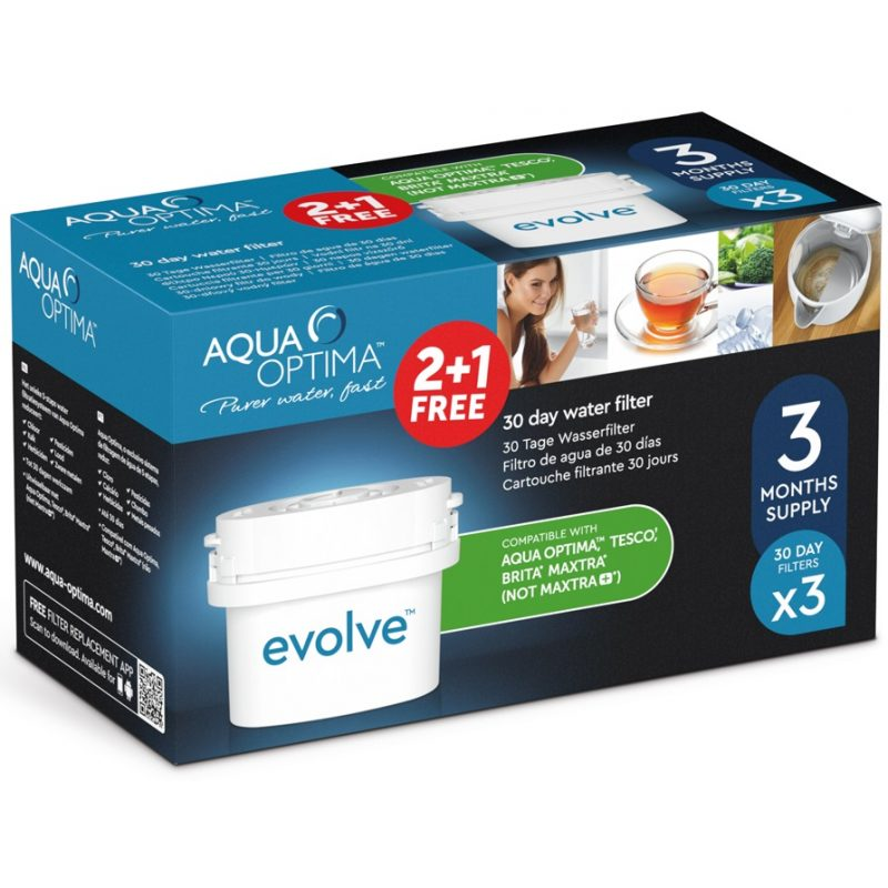 Filtros Aqua Optima Evolve Pack de 3 Unidades x30 Días Repuesto 1