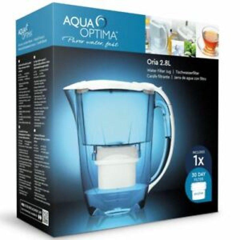 Jarra Aqua Optima Oria Blanca 2.8 Lts. con Purificador de Agua + Filtro 30 días incluido 4