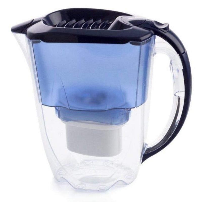 Jarra Aqua Optima Oria Blue 2.8 Lts. con Purificador de Agua + Filtro 30 días incluido 2