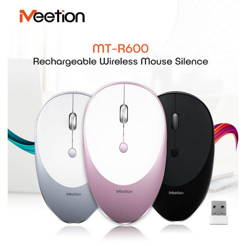 Mouse Inalambrico USB MeeTion MT-R600 con Batería Recargable Moderno Diseño - Negro 4