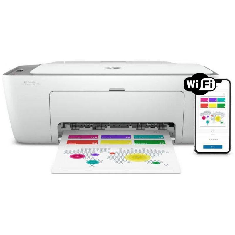 Impresora Multifuncion HP Deskjet 2775 Wifi + Cartuchos 1
