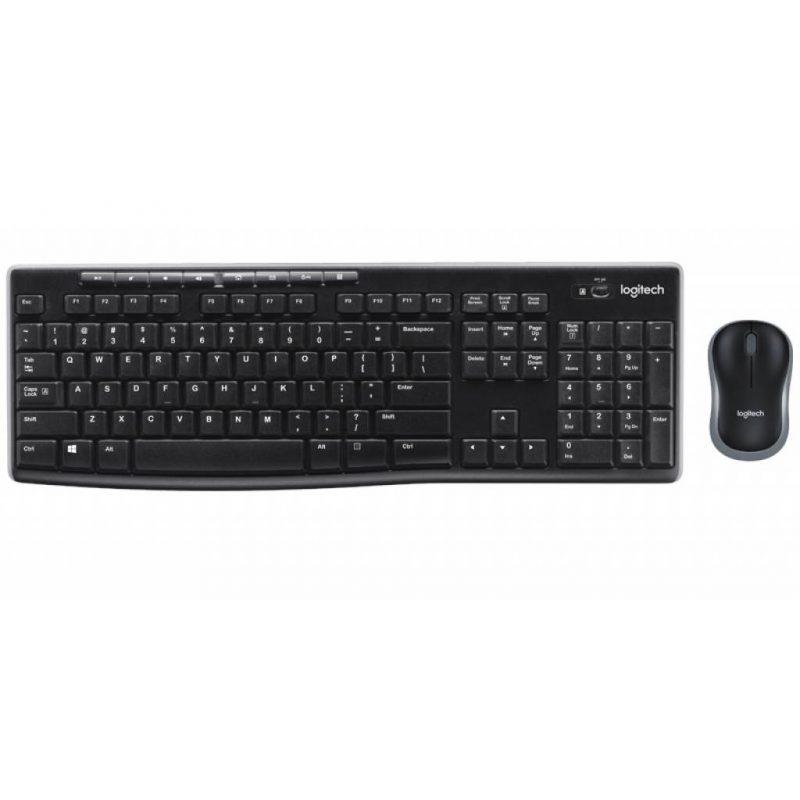 Combo Kit Teclado y Mouse inalambrico Logitech MK270 4