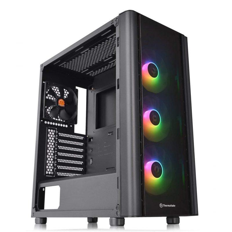 Gabinete Gamer Thermaltake V250 TG ARGB Paneles de Vidrio Templado 3 Fan RGB + Fan 12x12 1