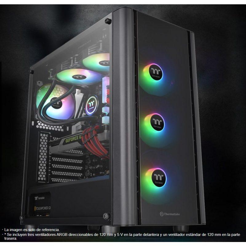 Gabinete Gamer Thermaltake V250 TG ARGB Paneles de Vidrio Templado 3 Fan RGB + Fan 12x12 2