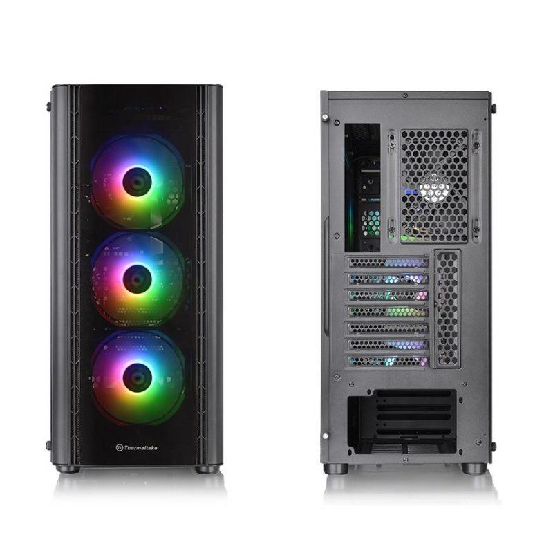 Gabinete Gamer Thermaltake V250 TG ARGB Paneles de Vidrio Templado 3 Fan RGB + Fan 12x12 4